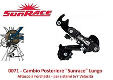 Cambio Post. Sunrace M2T 6/7 Veloc a Forchetta per Bici 20-24-26 MTB Mountain Bi