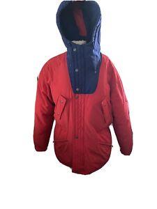 TRIPLE FAT GOOSE Down Jacket Red, blue  hood  Coat Parka Puffer medium