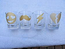 Shotglasses, Set of 4 different design, made by twelvenyc, female owned business