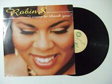"Robin S. – I Want To Thank You  - Disco Mix 12"" 33 Giri Vinile UK 1994 House"