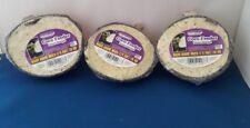 3 X WILD BIRD FOOD SUET COCONUT HALVES FEEDERS INSECT RECIPE