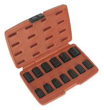 "Sealey AK5613M Impact Socket Set 13pc 1/2"" Square Drive Metric 10-24mm With Case"