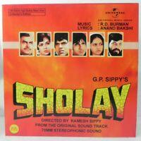 Sholay LP Record Bollywood R  D Burman Hindi Soundtrack Rare Vinyl India Mint