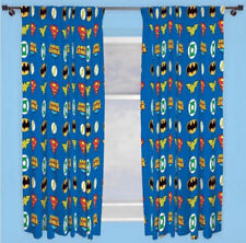 Comic Book Heroes Pictorial Curtains for Children
