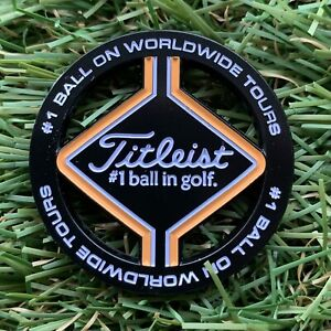 Titleist Golf Coin Style Black Large Ball Marker