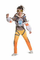 Details about  /Overwatch Mercy Costume 3pc Catsuit Gold Halo Headband /& Wings NEW SMALL 2-4