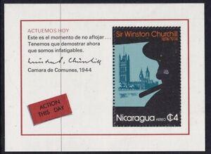 NICARAGUA 30 APRIL 1974 WINSTON CHURCHILL SOUVENIR SHEET MNH a