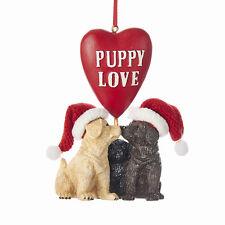 Labradors w/Heart Puppy Love Ornament