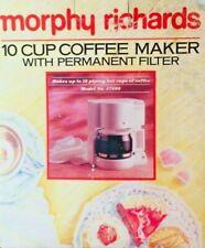 Morphy Richards Ten Cup Coffee Machine Model 47400 White In Original Box
