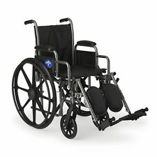 "Medline K2 Basic Wheelchair with 16""x16"" Seat, Elevating Legrests - MDS806300NEV"