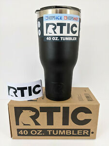RTIC Tumbler 40oz Splash Proof Lid, Double Wall and RTIC Decal