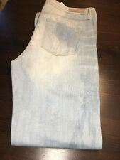 Womans Calvi Klein Sky Blue Rip Flare New Jeans Size 31/32