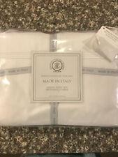 TESSITURA TOSCANA TELERIE FIRENZE 100%  COTTON Percale Queen White Sheet SET