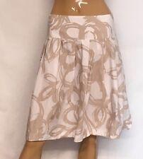 Nice Banana Republic Tan Cotton Abstract Skirt Size 12