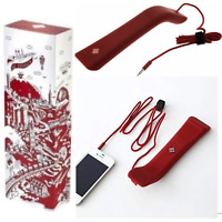 Native Union Solo Travel Handset Phone Accessory  Soft Touch Bordeaux iPhone And
