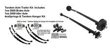 3500 lb 3.5K 545 6154347 95X80 Dexter Tandem Axle Complete Kit Build-A-Trailer