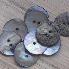 """Ronda De Madre Perla Botones (2 Hoyos) 23 mm - 29/32 """" - Precio Por 5 Botones"""