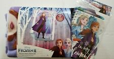 NEW Disney Frozen 2 Girl Gift Set No Sew Fleece Throw Kit Stationary Set Sisters