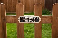 """""""Beware of the Dog"""" Solid Brass Gate Sign Or Door Sign"""