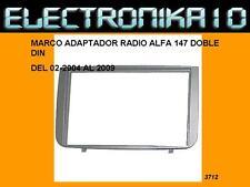 Soporte Marco de Montaje para Radio 2Din Alfa Romeo 147, GT (Tipo 937) antracita