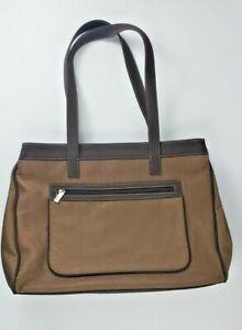 Sak Brown Textile Laptop Bag Women Briefcase Vegan XL Tote Organizer Business