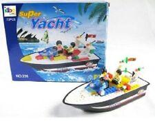 Building Brick Block Boat Creative Construction Toy 73 pieces