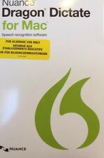 Nuance Dragon Dictate for Mac  Student. Complete with Earphones. Brand New Pack