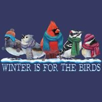 Winter T shirt For the Birds Cotton S M L XL XXL NWT NEW Blue