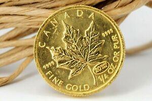 Kanada 10 Dollar 1999 Maple Leaf 1/4 Unze Gold Münze 20 Years Ans #M07