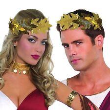 Roman Laurel Gold Leaf Headband Greek Headpiece Caeser Gladiator Crown Leaves BN