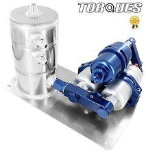 Twin Bosch 044 Fuel Pumps+ HighFlow Filter Manifold Cradle Swirl Pot Assembly