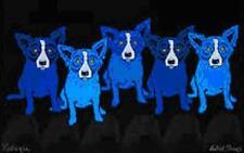 """Blue Dog George Rodrigue    """"Dog in Blue Girl in Black""""    MAKE  OFFER    DSS"""