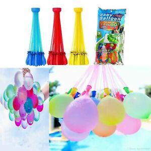 111 Rapid Filling Self Sealing Water Balloons x3 Bunches Outdoor Fun Kids Summer