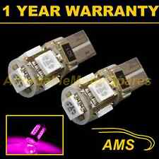 2x W5w T10 501 Canbus Error Free Rosa 5 Led sidelight Laterales Bombillos sl101305