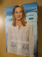 100294 Anja Reschke TV Musik Film Kino original signierte Autogrammkarte