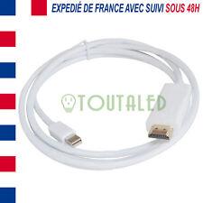 CABLE ADAPTATEUR MINI DISPLAYPORT VERS HDMI MALE 1M80 ENVOI DE FRANCE AVEC SUIVI