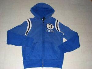 ABERCROMBIE Boys Muscle  Zip Hoodie Jacket Blue/Brick red Sz L/XL - NWT - $60