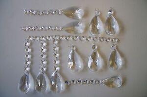 63 Stück Glas Set Luster Behang  Kristalle zum Deko Feng Shui Regenbogenkristall