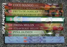 Hem Tropical Fruit Incense Scents 6 x 20 Stick,120 Sticks Variety Set 3 New {:-)