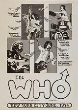 Que la ciudad de Nueva York (1974) - Concierto Cartel Pared Arte