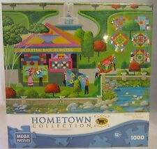 """Hometown Collection Heronim Art """"Quiting Bee"""" 1000 Large Piece Puzzle 27"""" x 19"""""""