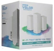 NEW Linksys Velop Tri-Band Whole Home Intelligent Mesh WiFi System 3 Pack AC4600