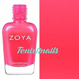 ZOYA ZP866 BISCA neon hot pink cream nail polish ~ ULTRA BRITES Collection NEW