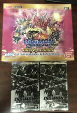 DIGIMON gran leyenda Booster Box TCG BANDAI BT-04 Sellado/W 2 paquetes de tablero