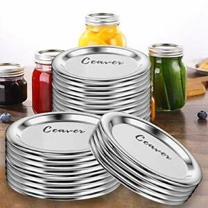 72-Count Regular Mouth Mason Jar Lids Canning Lids BPA-Free