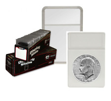 25 BCW Premium Eisenhower Dollar Coin Display Slab Holder with White Foam Insert
