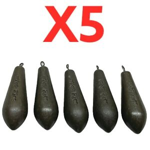 COARSE FISHING BOMB LEGER WEIGHTS 3/4oz SET OF FIVE JOBLOT CLEARANCE