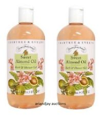Lot of 2 New Crabtree & Evelyn Sweet Almond Oil Bath and Shower Gel 16.9 oz x 2