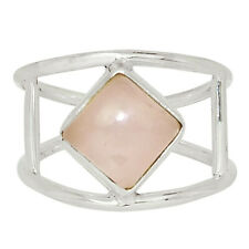 Rose Quartz - Madagascar 925 Sterling Silver Ring Jewelry s.9 33512R