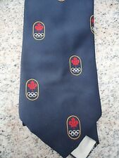 1976 OLYMPIC Games MONTREAL CANADA Original Blue Neck Tie Abbey Cravate